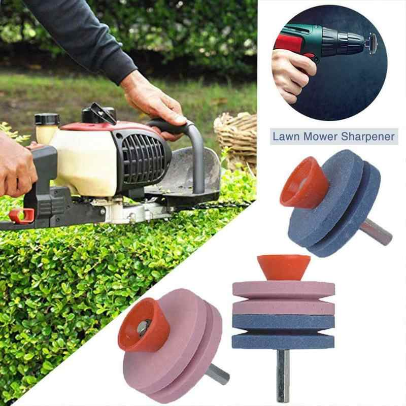 50MM Faster Blade Sharpener Lawn Mower Universal Grinding Rotary Drill Cuts Lawnmower Blade Sharpener &s Whetstone Kitchen Tools