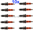 10 x 3-Electrode Spark Plugs D8TC D8TJC 12mm CG125 150 175 200 JH125 JH145 GS125 QM125 CB250RS XL250 SR125 WY125 HJ125 NEW
