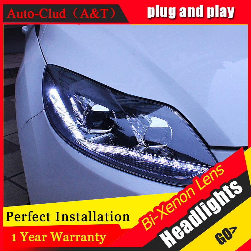 car styling For Ford Focus headlights U angel eyes DRL 2012 2014 For Ford Focus LED