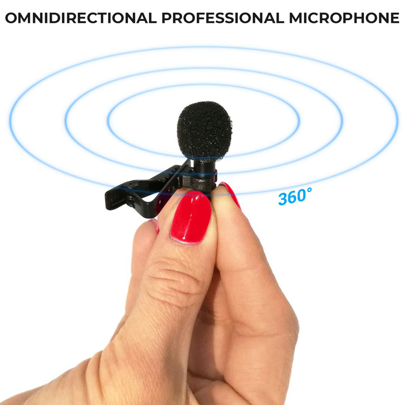 SHELKEE Omnidirectional Mini Audio Mic Microphone 3.5mm Jack Lavalier Tie Clip Mic for Speech Leture Interview K song 3