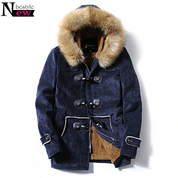 Men Women Fashion Winter Thick Down Cotton Jacket Coats Deer Skin Leather Couple Fur Hooded Jackets Long Parka Jaqueta Masculina