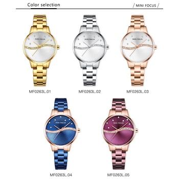 MINI FOCUS Women's Fashion Lady Stainless Steel Strap Waterproof Quartz-Watches 4