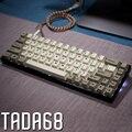 Dye-sub tada68 gateron swtich 65% layout de teclado mecânico keycaps cherry profils