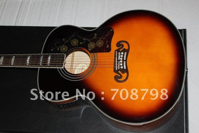 SJ-200 Acoustic Electric Guitar with Fishman In TS Sunset