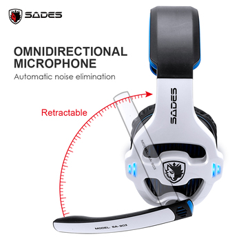 SADES SA-903 High-Performance 7.1 USB PC Headset Deep Bass Gaming Headphones With LED Micphone For Games Player 4
