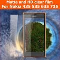 Screen Protection HD Clear Glossy Film For Microsoft lumia 435 535 Anti-Glare Matte Film For Nokia 635 735 LCD panel Guard+cloth
