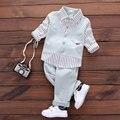 2017 Весна Осень мальчик детская cothing костюмы для детской ребенка мальчики одежда бренд дизайн джентльмен повседневная спорт рубашка костюм одежда наборы