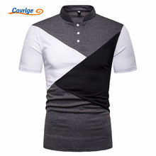 Covrlge Brand Clothing New Men Polo Shirt Business Casual British Style Male Short Sleeve High Quality MTP107