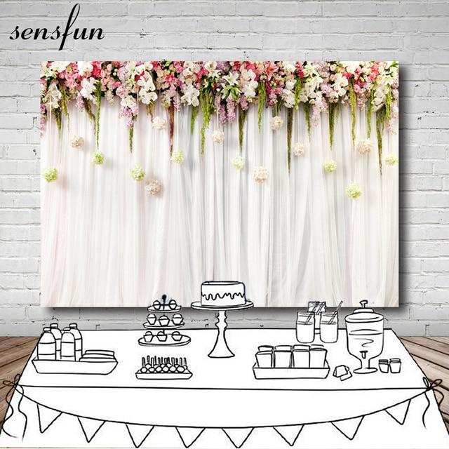 Light Pink Flowers Background For Wedding Newborn Backdrop
