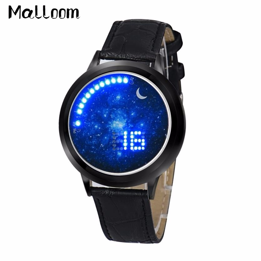 Malloom Men Touch Screen Wrist Watch Women Multifunctional Digital Watches Mens Luxury Blue Dial LED Electronic Watch Reloj #Zer new fashion silica gel electronic digital touch screen led watch
