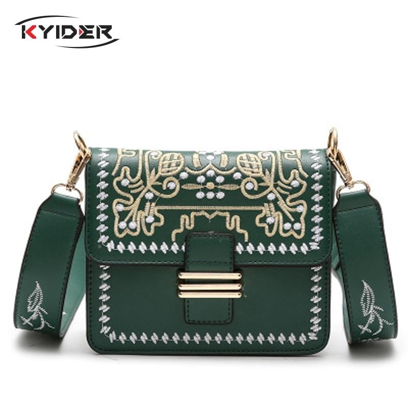 KYIDER nouvelle mode filles brodé rabat sacs femmes 2019 populaire bandoulière sac à bandoulière marque conçu Messenger embrayage