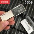 ¡ Venta caliente! cristal Llevó la luz de Metal Usb flash drive Pen drive de memoria Usb disco usb stick logotipo Personalizado 1 GB 2 GB 4 GB 8 GB 16 GB 32 GB