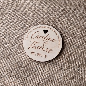 Image 3 - Thank You Wedding Favors Wedding Favor Magnet, Bride, Groom, Gift, Save the Date