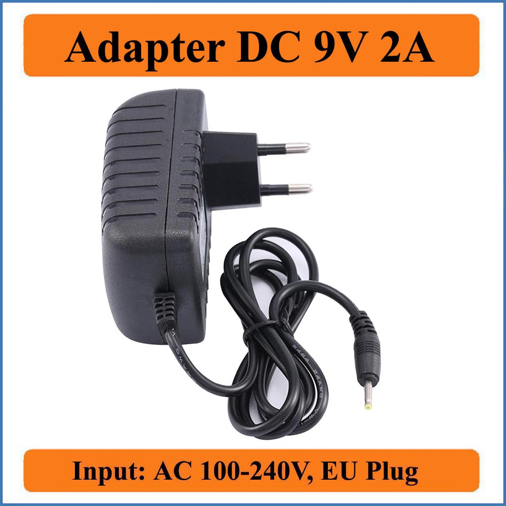 9V 2A EU Plug AC DC Adapter AC 100-240V Charger Converter Adapters to DC 9V 2000mA Power Supply 5.5mm x 2.1-2.5mm