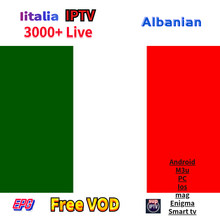 Iptv Italy Italia Albanian xxx Arabic IPTV Subscription Abbonamento For Iphone M3U LG Smart Tv Enigma2 Mag250 mag 256 TVIP VOD(China)