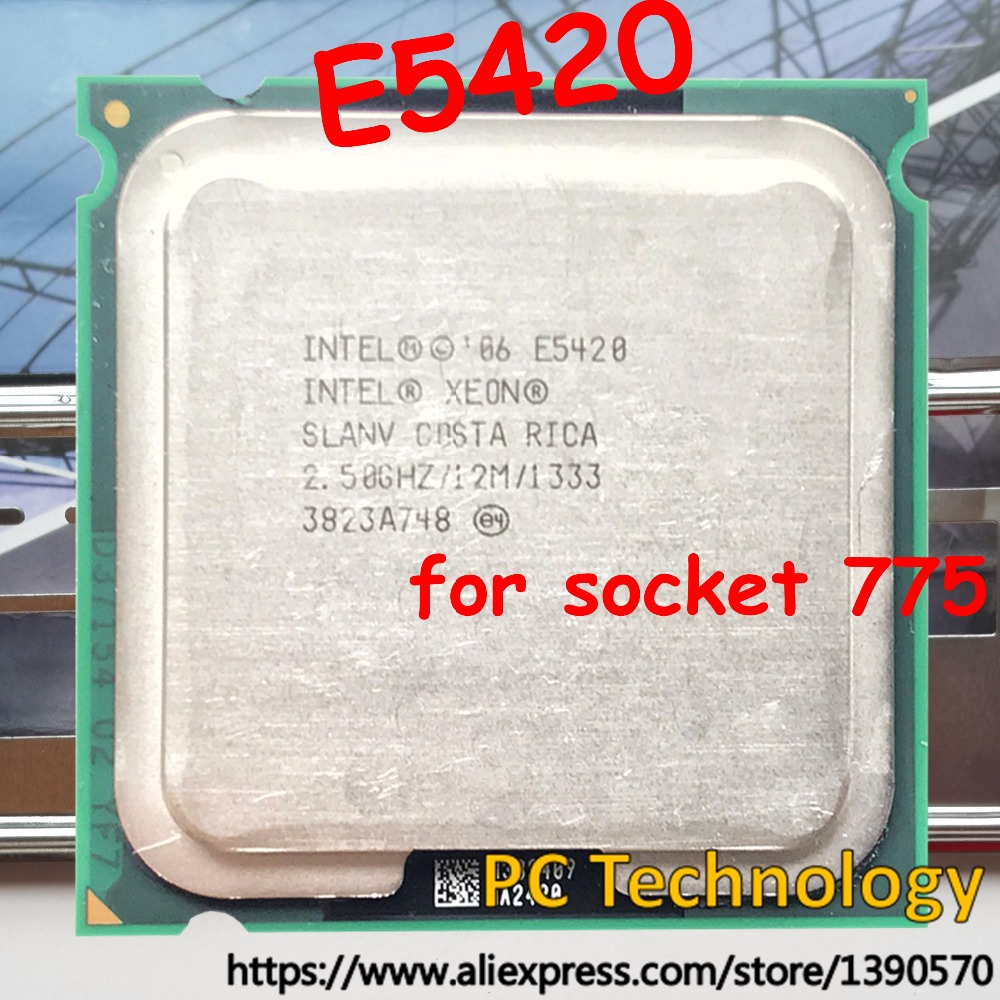 Original Intel Xeon E5420 Processor Cpu 250ghz 12mb 1333 Lga775 Quad Core Q6600 Equal To Q9300 Works On No Need Adapter In Cpus From Computer