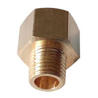 """New Durable Brass BSP-NPT Adapter 1/8"""" Male BSPT to 1/4"""" Female NPT Brass Pipe Fitting Hex Plumbing Adapter Pipe Fitting"""