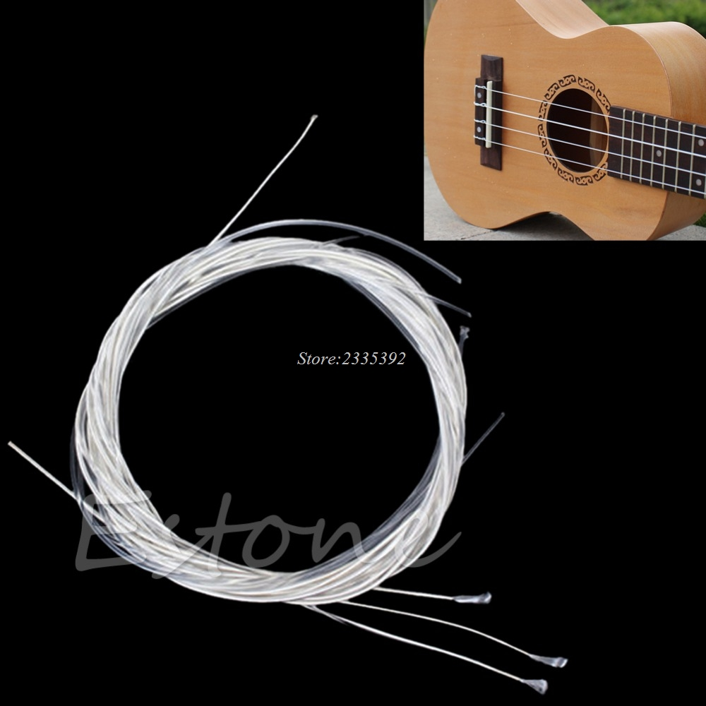 1 Set 6Pcs New Durable 39 Silver Nylon Strings For Acoustic Classical Guitar