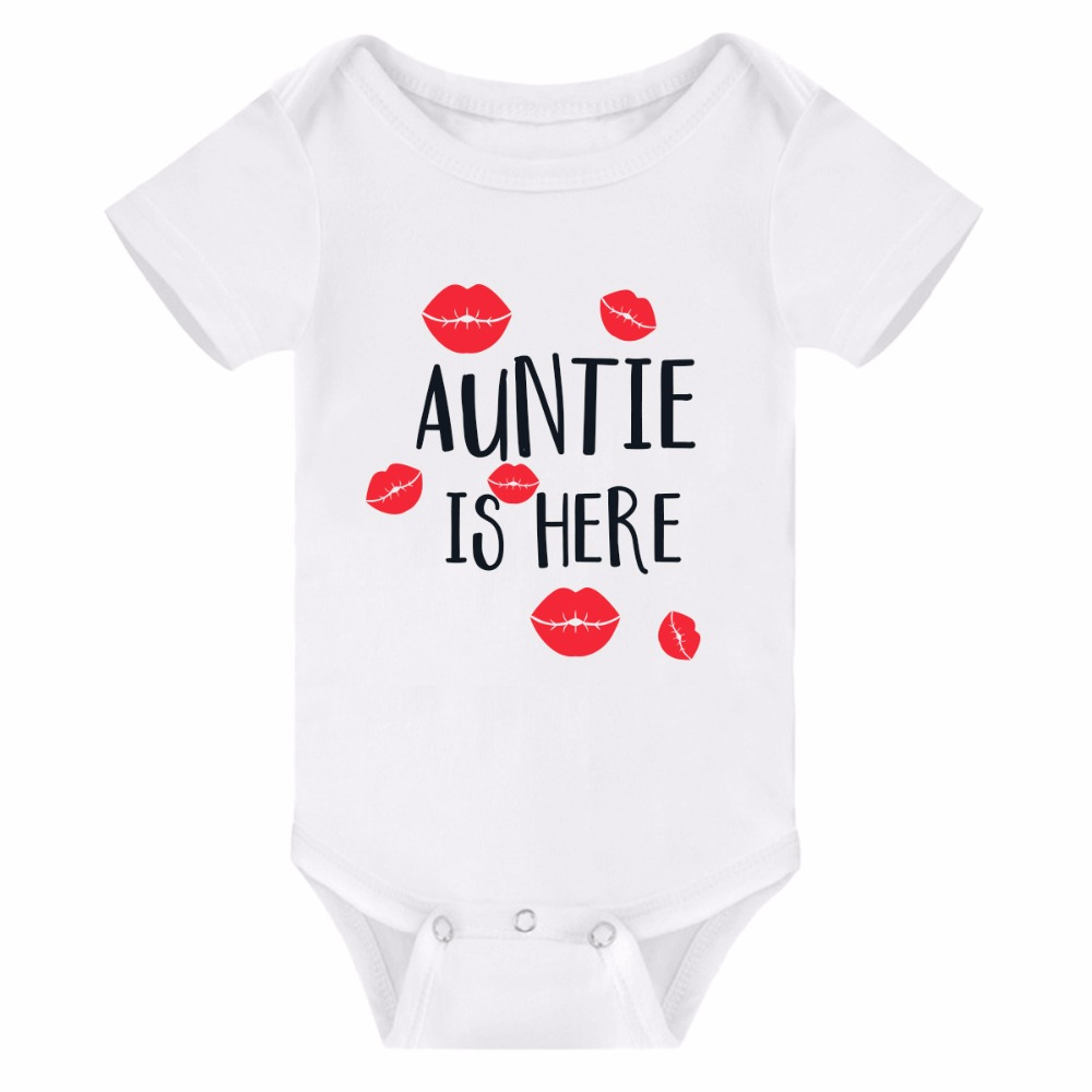 Newborn Baby Boys Girls Rompers Auntie Short Sleeve Infant Jumpsuit Toddler Boys Girls Summer Clothes 2018