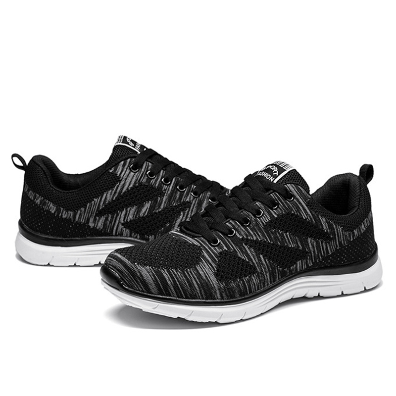 Apple hot sale mens fly knit mesh leisure sport running shoes Popular summer light breathable comfortable Male walking shoes