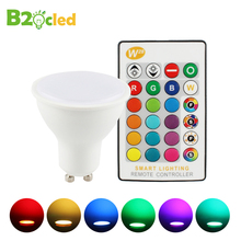 85-265V Dimmable Led Bulb 5W GU10 E27 RGBW RGBWW Spot Light Led Lamps Controller RF Remote Controller Magic RGB Indoor Decoratio