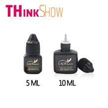 5ML/10ML Lady Black Glue Used for Volume Eyelashes Extension,Individual 3D Lashes Glue,No Odor Prevent Allergy