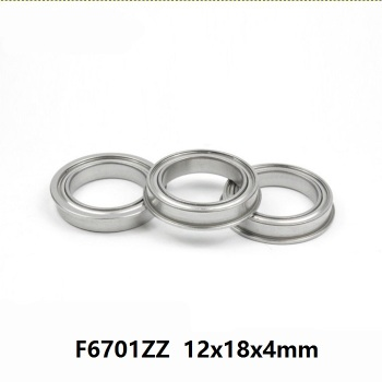 100pcs/lot F6701ZZ F6701Z F6701 ZZ Z 12x18x4 mm flange deep groove Ball Bearing double shielded flanged F 6701ZZ bearing 12*18*4