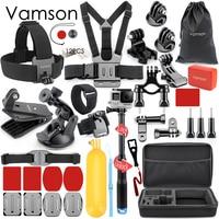 Vamson for Gopro Accessories set mounts for gopro hero 5 hero 4 hero3 kit for Xiaomi yi Camera for SJCAM EKEN VS86
