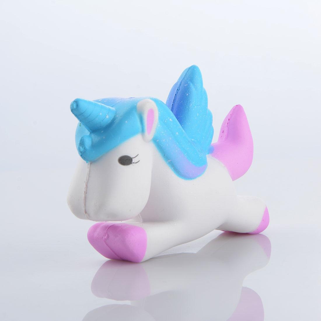 Squishy Toys Pony : Rainbow Flying Unicorn Horse Squishy Toys Slow Rising Squeeze Pony Doll Fun Jokes Props Phone ...