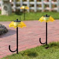 Jaune rouge bleu couleur option parapluie solaire jardin de lumière de pelouse solaire puissance lumière solaire lampe pour l'extérieur paysage yard décoration