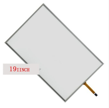 19'' inch widescreen 16:10 touch screen four wire resistive touch screen glass screen