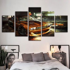 Casa Decoração Da Parede Da Pintura Da Lona de Arte Pop Moderno HD Carro Comum Impresso Posters Fotos Para Quarto Quadro Modular