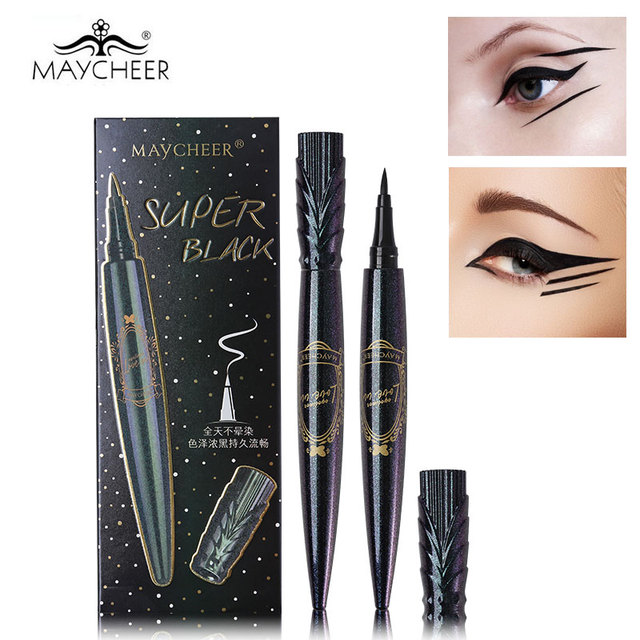 MAYCHEER New Queen's Eyeliner Pen Cool Black Waterproof Quick-Drying Liquid Eyeliner Pencil Makeup Sweet-proof Lasting Eyeliner