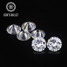 Gem's Balet 1.0Ct 6.5 Mm D Warna VVS Kejelasan Bulat Brilian Dipotong Lab Tumbuh Longgar Moissanite Batu untuk Membuat Perhiasan(China)