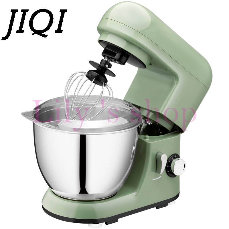 JIQI Electric chef food cooking Stand Mixer Automatic commercial 6 Speed Tilt-Head eggs beater Blender cake dough mixing machine