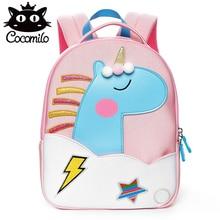 цены New 3D Cartoon Rainbow Unicorn Kid School Bags for Girls Boys Neoprene Kids Bag Waterproof Kindergarten Children School Backpack