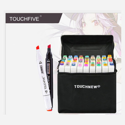 TouchFIVE 30/40/60/80/168 اللون الفن علامات مجموعة مزدوجة برئاسة الفنان رسم الزيتية الكحول علامات أسست للرسوم المتحركة قلم تحديد