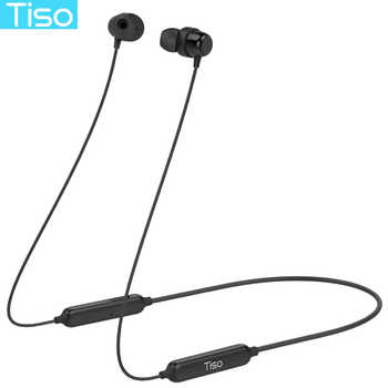 Tiso 8 hours playtime sport magnetic earphone wireless Bluetooth headphone IP67 waterproof headset 3D stereo microphone earbuds - DISCOUNT ITEM  50% OFF Consumer Electronics