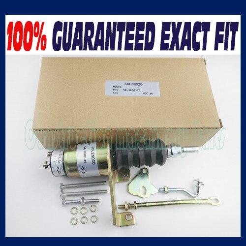 Solenoid Shutdown Kits For RSV Bosch SA-3800-24 1751-24 Volt Right-hand SA-3800 24V free shipping fuel shutdown solenoid valve sa 3765 12 for bosch rsv 1751 12v solenoid left mounted
