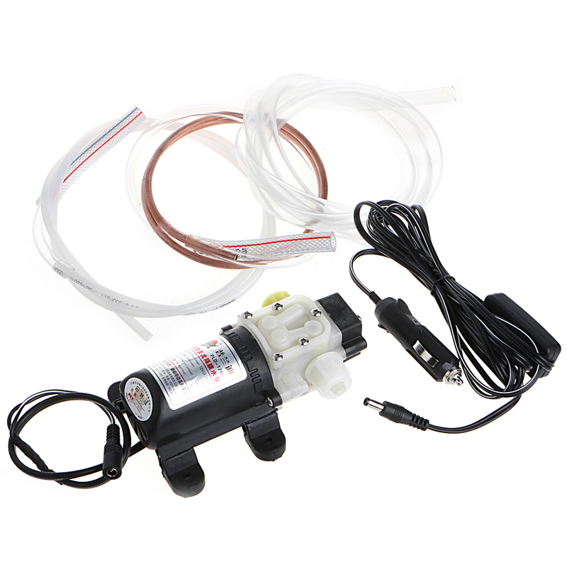 12V 45W Car Electric Oil Diesel Fuel Extractor Transfer Pump with Cigarette Lighter 1 Set diy brand dollar price 12v oil for diesel fluid sump extractor transfer pump for electric motorbike car oil transfer pump
