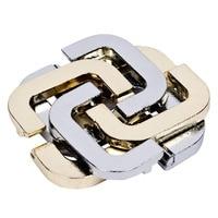 1 Pcs Puzzle Alloy 4C Lock Puzzle Four Leaf Clover IQ Kid Adult Intelligent Toy