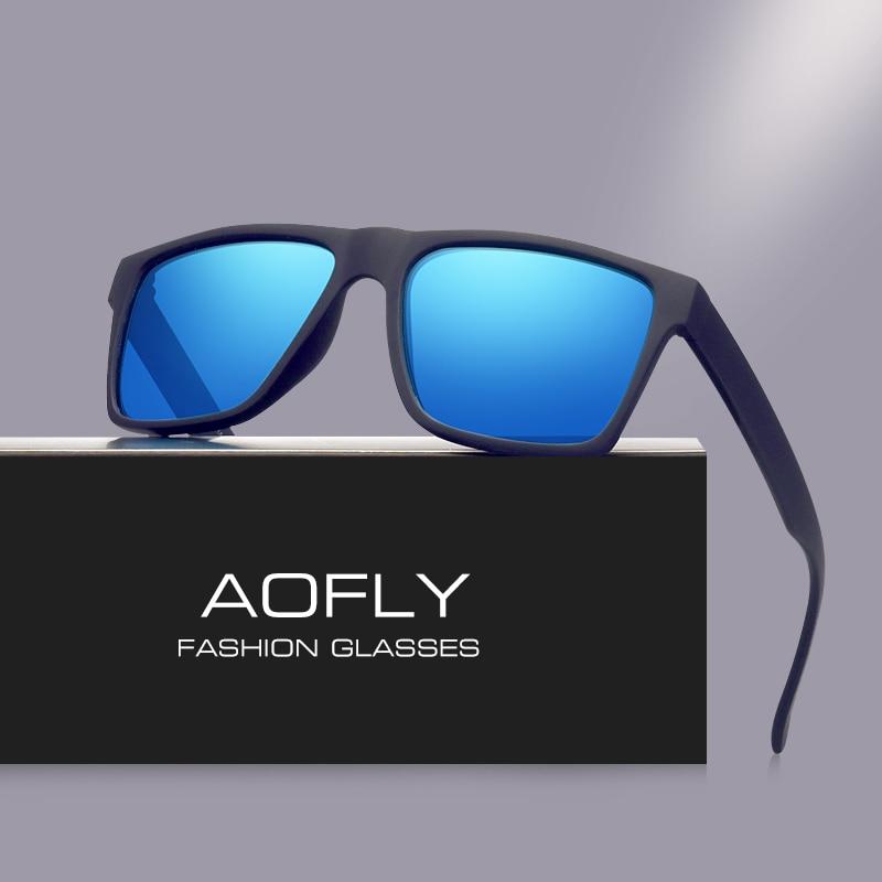 AOFLY ապրանքանիշի դասական սև բևեռացված արևային ակնոցներ Տղամարդկանց արևի ակնոցներ տղամարդկանց համար Shades Fashion Male Oculos Gafas Eyewear AF8034