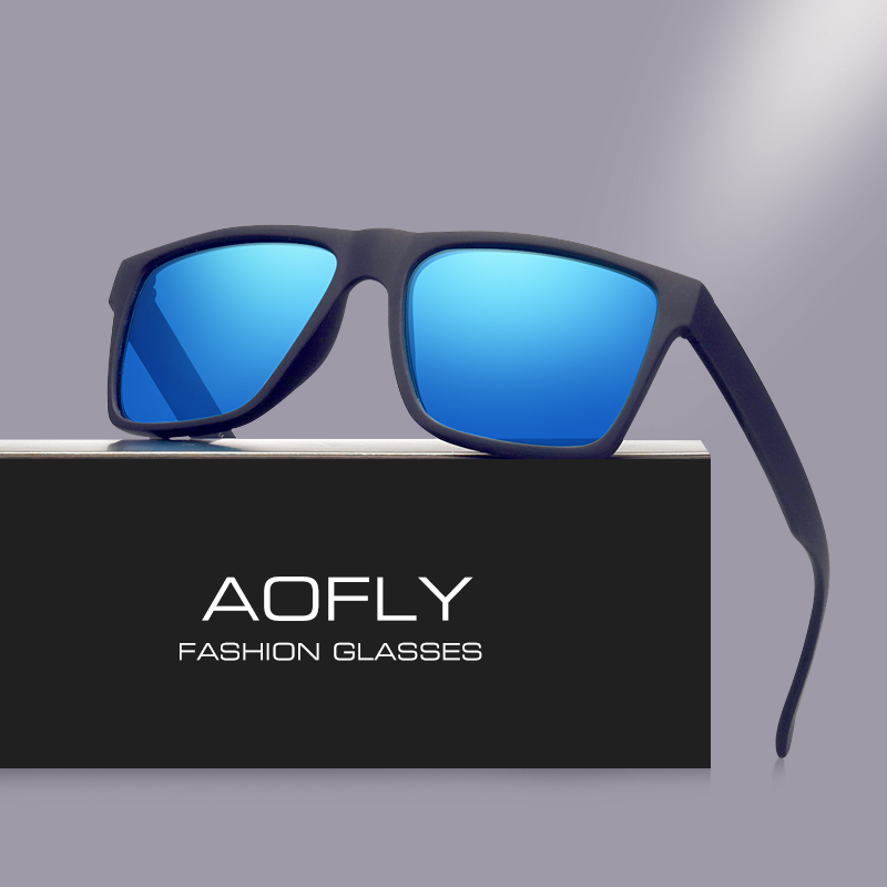AOFLY Brand Classic Black Polarized Sunglasses Men Driving Sun Glasses For Men Shades Fashion Male Oculos Gafas Eyewear AF8034