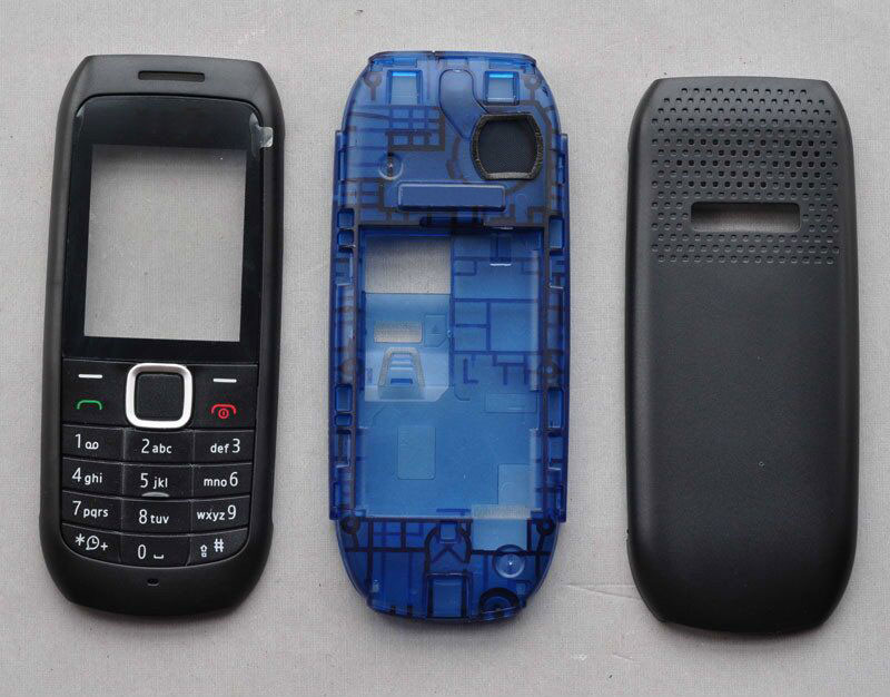 BINYEAE New Full Housing Case Cover Facing Front Frame With Key Board Display Glass+Middle Frame+Back Cover For Nokia 1616