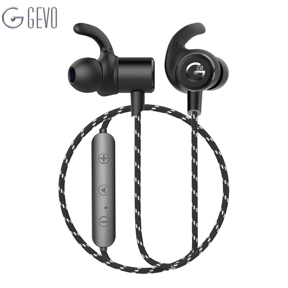 GEVO GV-18BT Wireless Headphone Bluetooth Sport In ear Magnetic Stereo Bass Waterproof Headset Earbuds Earphone For Smartphone 5pcs bluetooth 4 1 wireless sports earbuds in ear sport headset stereo earphone hands free headphone for work business driving