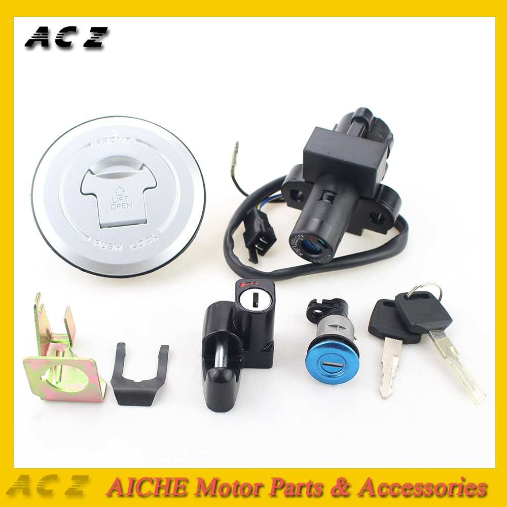 ACZ Motorcycle Ignition Switch Lock Fuel Gas Tank Cap Cover Seat Handle Locks Include Key For Honda CB250 CB 250 Hornet 250