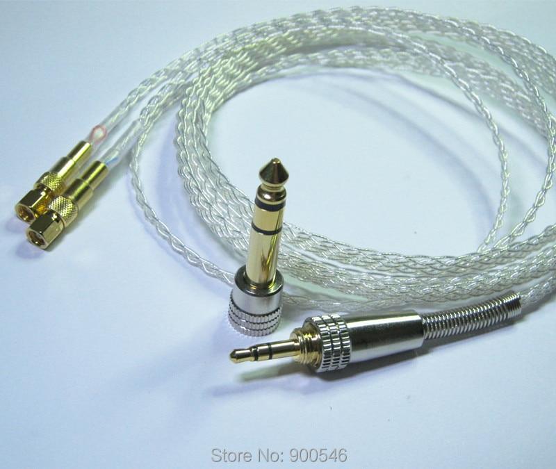 1.8 m 6ft El Yapımı 8 çekirdek 5N OCC Düz örgü Gümüş kaplama - Taşınabilir Ses ve Görüntü - Fotoğraf 2