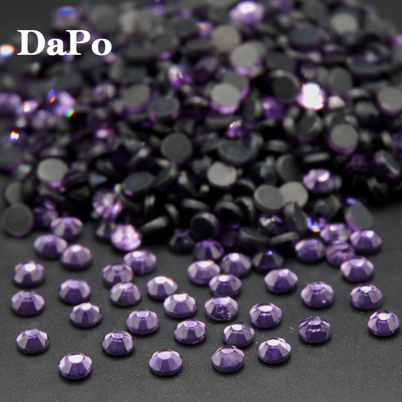 Violet Color Crystals Hotfix Rhinestone Flat Back Heat Transfer Iron On Design  Strass Stones For Clothes Dress Crafts SS6 SS30-in Rhinestones from Home ... b3dbdbb95882