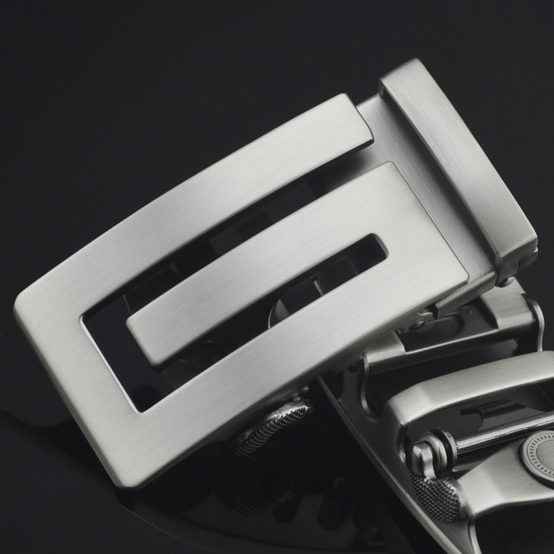 3.5cm Width Men's Belt Buckles Solid Letter Men Belt Genuine Leather Automatic Buckle Head Accessories Gift CE25-1058