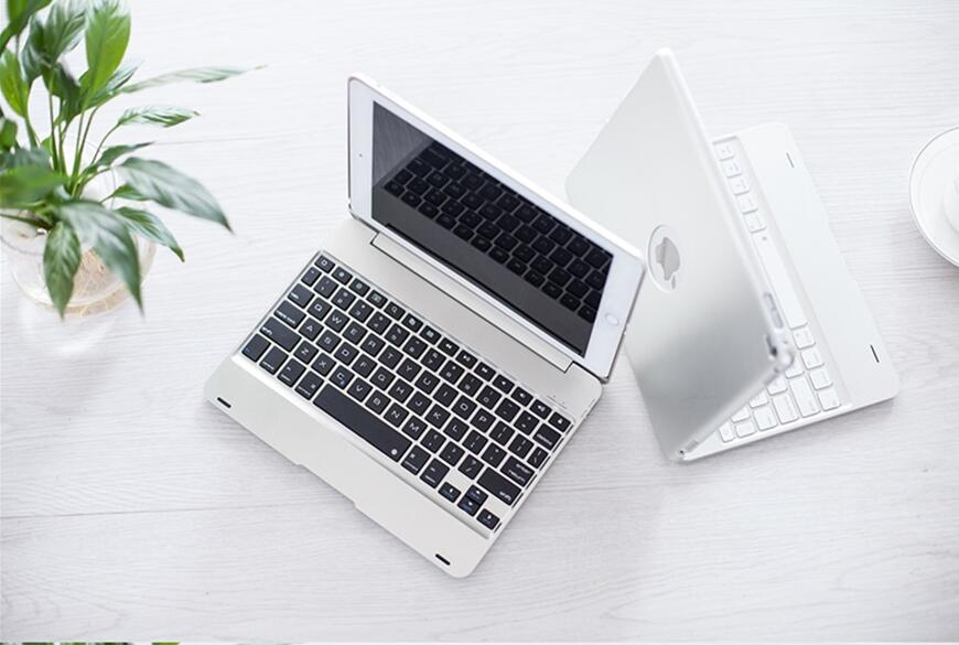 New Wireless Coque for iPad Air 2 Cover with Keyboard 9.7'' A1566 A1567 Bluetooth PVC for Apple iPad Air 2 Keyboard Case (3)